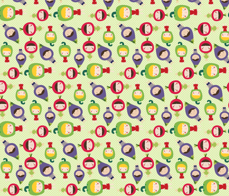 veggiekids3 fabric by heathertm13 on Spoonflower - custom fabric