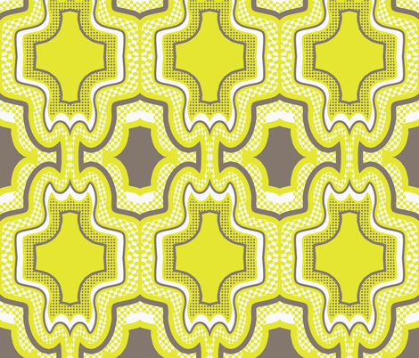 1,2,3 go!  beige,lime,white fabric by susiprint on Spoonflower - custom fabric