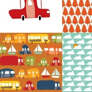 Cars, trucks, boats cheater quilt
