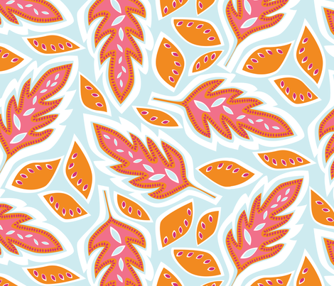 Big Leaves fabric by jillbyers on Spoonflower - custom fabric