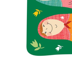 2019 tea towel calendar - russian dolls