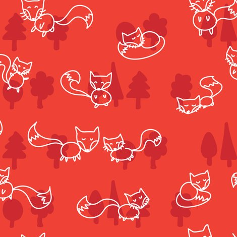 Rfoxes_doodle_white_on_red-01_shop_preview