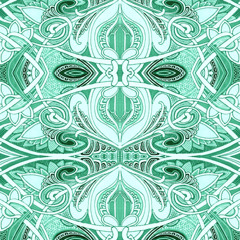 A Twisted Green Theme fabric by edsel2084 on Spoonflower - custom fabric