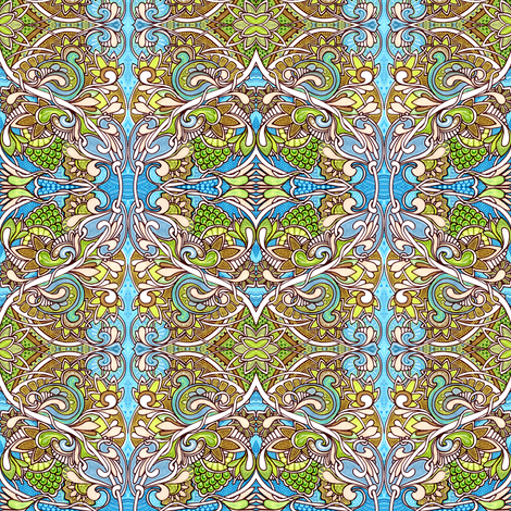 Paisley Sprouts in the Spade Garden fabric by edsel2084 on Spoonflower - custom fabric