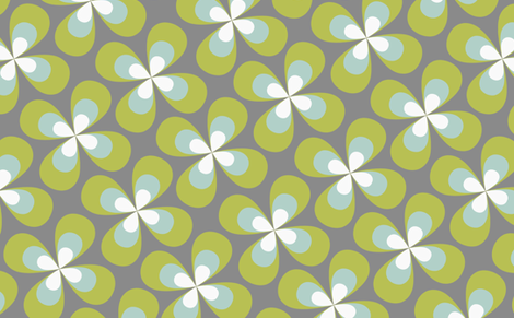 bigbutterflyflowers fabric by ellila on Spoonflower - custom fabric