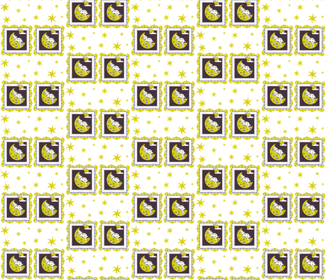 SUMMER DAZE FALLING STARS fabric by bluevelvet on Spoonflower - custom fabric
