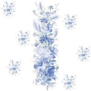 Edith Stripe in Blueberry Blue