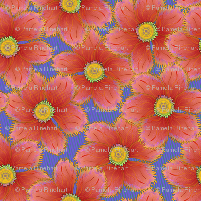 FRINGED FLORAL CORAL