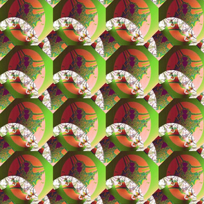 Green Orange Paper Pattern