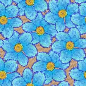 FRINGED FLORAL BLUE