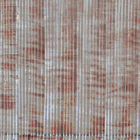 Corrugated iron/steel roof fabric by greennote on Spoonflower - custom fabric