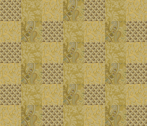 Golden_Umbre_Collage fabric by kelly_a on Spoonflower - custom fabric