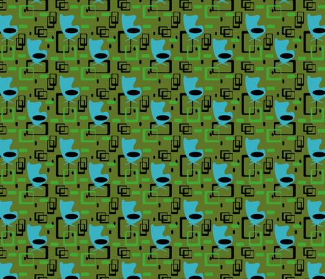 modegg blue fabric by fiona_sinclair_design on Spoonflower - custom fabric