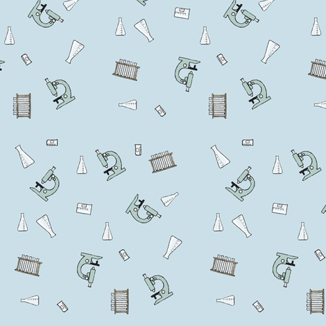 microscope ditsy fabric by doodleandhoob on Spoonflower - custom fabric