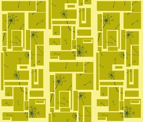 Mod Dandelion-Yellow fabric by stitchfetish_studio on Spoonflower - custom fabric