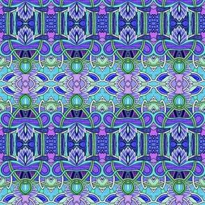 Alfalfa Goes Deco (blue horizontal stripe)