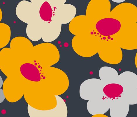 Bold Mama {grey} fabric by printablegirl on Spoonflower - custom fabric