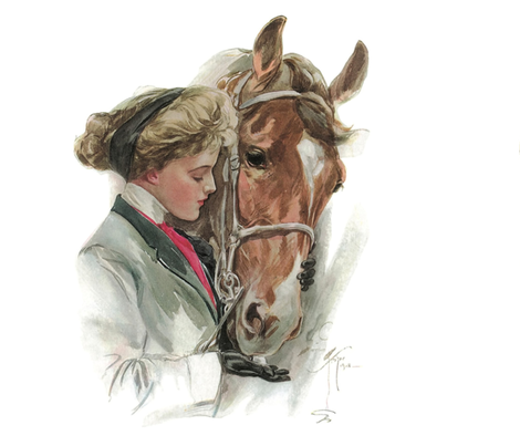 """The Equestrian & The Horse 18"""" pillow square fabric by peacoquettedesigns on Spoonflower - custom fabric"""