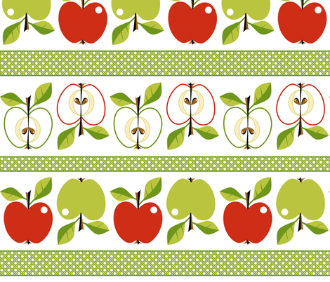 Apples - espalier! fabric by moirarae on Spoonflower - custom fabric