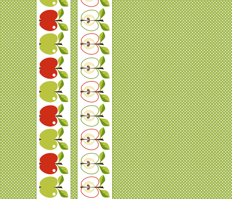 Apples - step-over! fabric by moirarae on Spoonflower - custom fabric