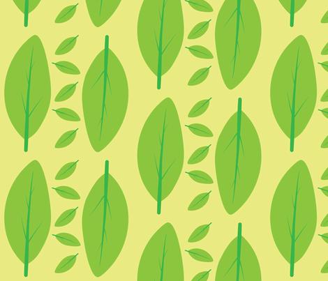 Fresh spring leafs fabric by sketchbook on Spoonflower - custom fabric