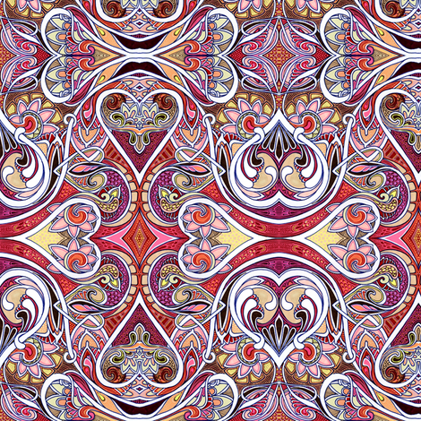 Queen of Hearts fabric by edsel2084 on Spoonflower - custom fabric