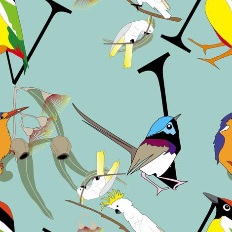 birdwrap-green fabric by fiona_sinclair_design on Spoonflower - custom fabric