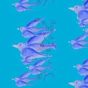 Blue birds make me happy