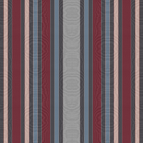 Striped Moire ~ Simply Savoy fabric by peacoquettedesigns on Spoonflower - custom fabric
