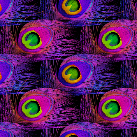 Punk Rock Peacock ~ Two Tone fabric by peacoquettedesigns on Spoonflower - custom fabric
