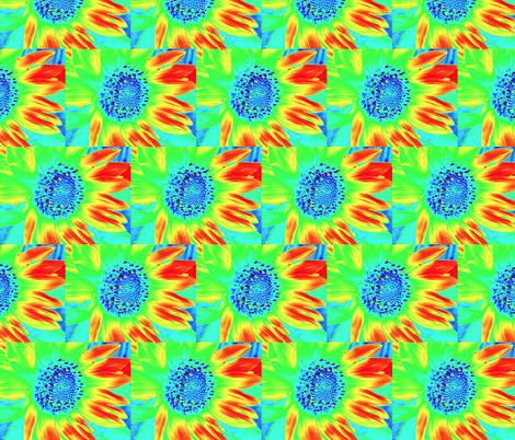 Mod Sunflowers 2 fabric by dovetail_designs on Spoonflower - custom fabric