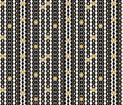 Beats N Bees Geometric Stripe in Black, Gold & Silver fabric by hairpik on Spoonflower - custom fabric