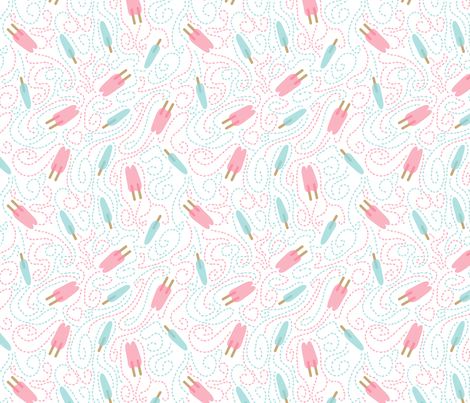 Popsicle - Rasberry & Watermelon fabric by seabluestudio on Spoonflower - custom fabric
