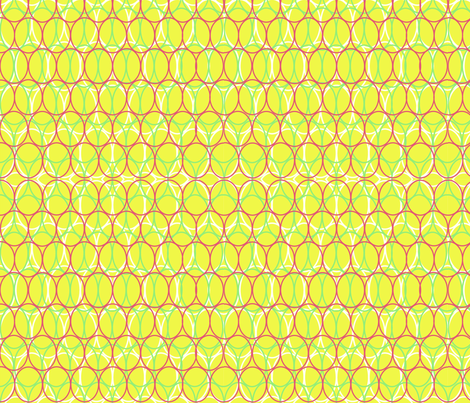 Oval Chains Chartreuse fabric by vinpauld on Spoonflower - custom fabric