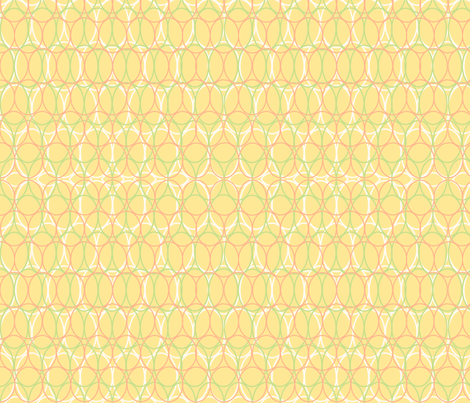 Oval Chains Muted Yellow fabric by vinpauld on Spoonflower - custom fabric