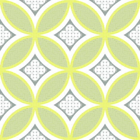 Mexican Mod Tile - margarita fabric by marcador on Spoonflower - custom fabric