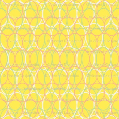 Oval Chains Bright Yellow