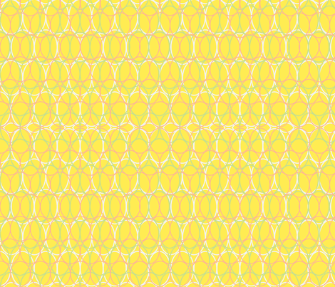 Oval Chains Bright Yellow fabric by vinpauld on Spoonflower - custom fabric