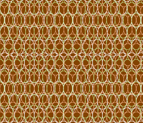 Oval Chains Brown fabric by vinpauld on Spoonflower - custom fabric