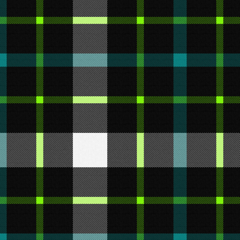 Century City Plaid ~ Lime & Teal fabric by peacoquettedesigns on Spoonflower - custom fabric