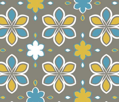 Mod Florals fabric by jubilli on Spoonflower - custom fabric