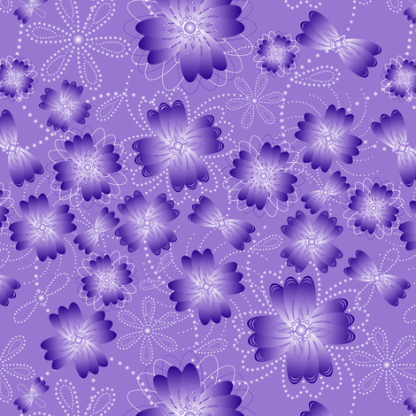 Lavender Pearlblossoms fabric by jjtrends on Spoonflower - custom fabric