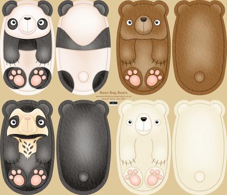 Bean Bag Bears fabric by shiro on Spoonflower - custom fabric