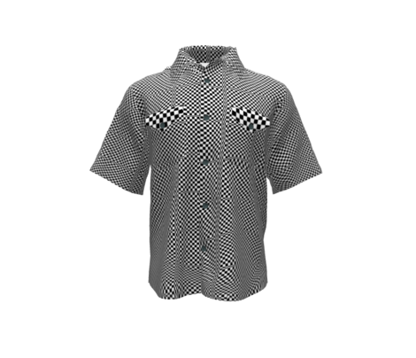 Wavy Checkered Race Flag