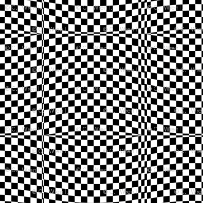 Race Checkered Adventure -- op art