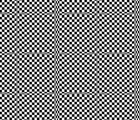 Race Checkered Adventure -- op art fabric by wren_leyland on Spoonflower - custom fabric