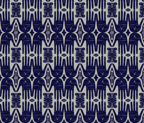 handiwork navy fabric by glimmericks on Spoonflower - custom fabric