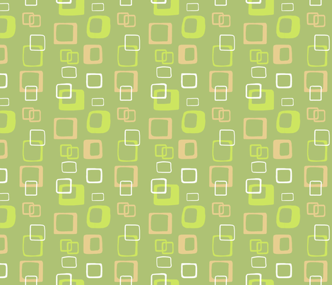 Mod Abstract Green Tan and White fabric by vinpauld on Spoonflower - custom fabric