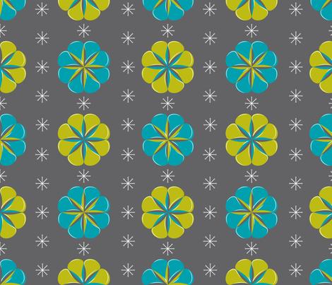 Mod Wallpaper fabric by seabluestudio on Spoonflower - custom fabric