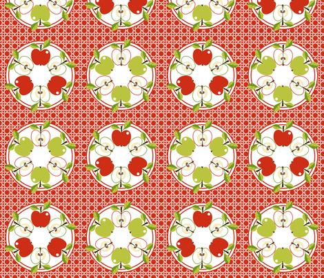 Apple -Tarte Tatin! fabric by moirarae on Spoonflower - custom fabric